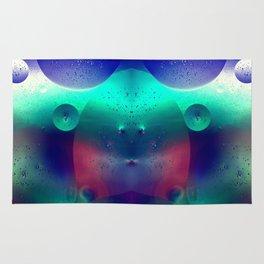 Vibrant Symmetry Oil Droplets Rug
