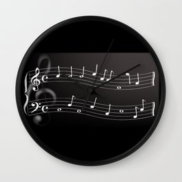 Musical Background Wall Clock