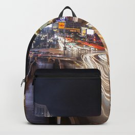 Light Trails on the strip  Backpack