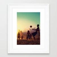 brasil Framed Art Prints featuring Brasil by afzucatti