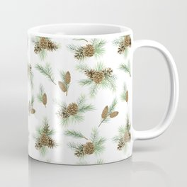 pine branches and cones pattern Coffee Mug