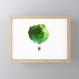 Iceberg Balloon Framed Mini Art Print