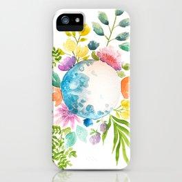 Moon in Bloom iPhone Case