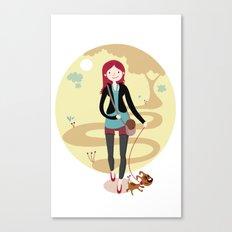 Walk the dog Canvas Print