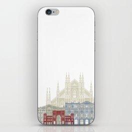 Milan skyline poster iPhone Skin