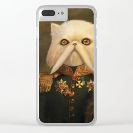 Persian Cat Emperor Clear iPhone Case