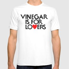 Vinegar is for Lovers X-LARGE White Mens Fitted Tee