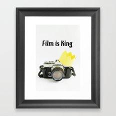 Film is King Framed Art Print