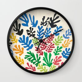 Leaf Cutouts by Henri Matisse (1953) Wall Clock