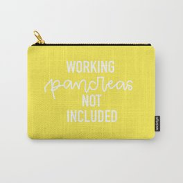 Working Pancreas Not Included - Yellow Carry-All Pouch