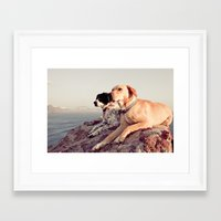 chill Framed Art Prints featuring Chill by maisie ong