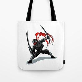 cartoon ninja in action Tote Bag