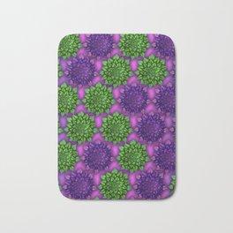 Focus purple green pattern Bath Mat