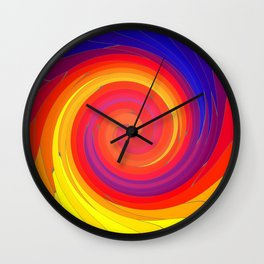Mosaic Swirl Wall Clock