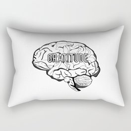 GRATITUDE Brain Rectangular Pillow