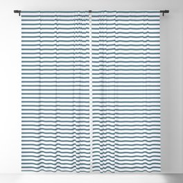 Blue stripes seamless pattern, from the Orange Blossom Pattern Collection Blackout Curtain