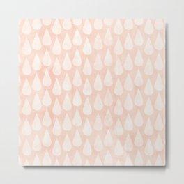 Big Drops Blush Coral Metal Print