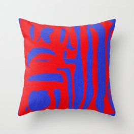 Abstract in Blue and Red I Throw Pillow