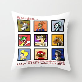 Ready Made Productions Promo Poster 2015 Throw Pillow