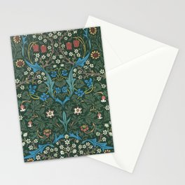 William Morris Blackthorn Wallpaper Block Print Pattern, 1892 Stationery Cards