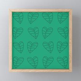 Taro Leaves Framed Mini Art Print