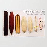 surfboard Area & Throw Rugs featuring Surfboard Evolution by John Lyman Photos
