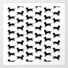 Dachshund Pattern Art Print
