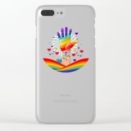 Rainbow Hand LGBT Price Day Clear iPhone Case