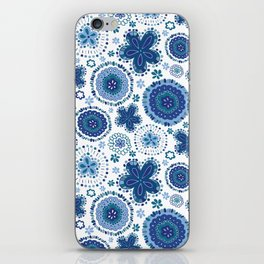 Organic Medallions - Blue iPhone Skin