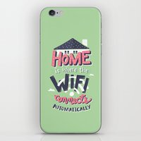 risa rodil iPhone & iPod Skins featuring Home Wifi by Risa Rodil
