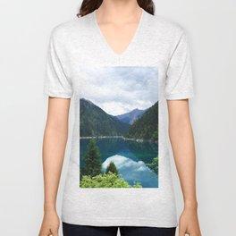 长海 // Long Lake, Jiuzhaigou Unisex V-Neck