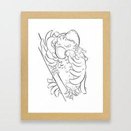 Pirate Parrot - ink Framed Art Print
