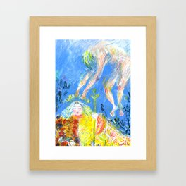 Agneta and the Sea King Framed Art Print