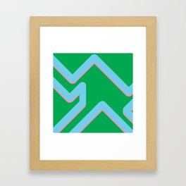 The form Framed Art Print
