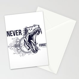 Tyrannosaurus Rex Never Forget Stationery Cards