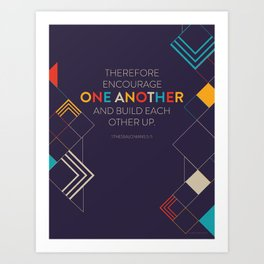One Another Scripture Poster (1 Thessalonians) Art Print