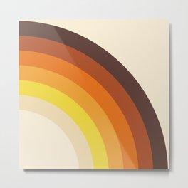 70's Rainbow Print Metal Print