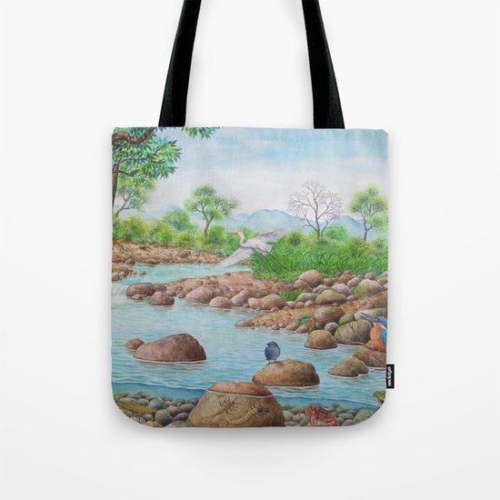 A Day of Forest(7). (the river ecosystem) Tote Bag