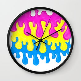 Pansexual Pride Slime Wall Clock