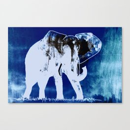 Elephant (blue version) Canvas Print