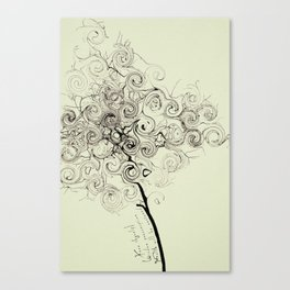 NOT DOING IS SOMETIMES THE KEE Canvas Print