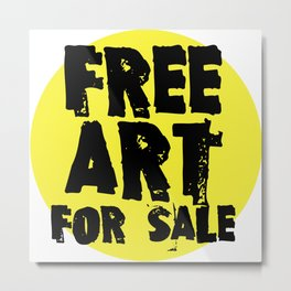 Free Art for Sale (yellow) Metal Print