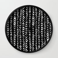 numbers Wall Clocks featuring NUMBERS by Rebecca Allen