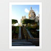 Montmarte Above - Paris France Art Print