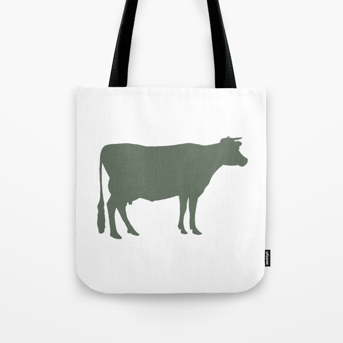 Cow: Green Tote Bag
