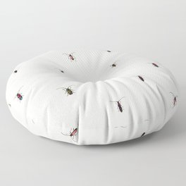 Colorful Insects Floor Pillow