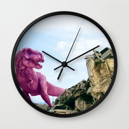 Pink and Gold Cars Wall Clock