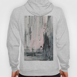 Soft Pink Abstract Hoody