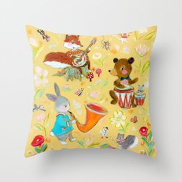 Big Bun Band Throw Pillow