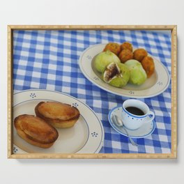 salento breakfast with typical products and pasticciotto Serving Tray